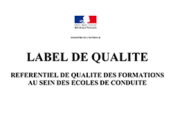 Label de qualité Auto Ecole